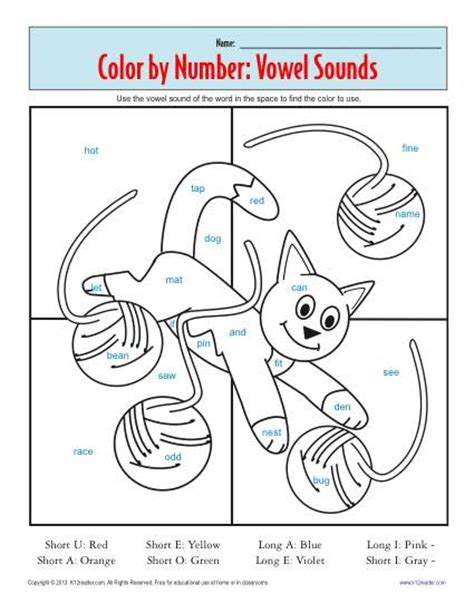 color by sound phonics worksheets color of