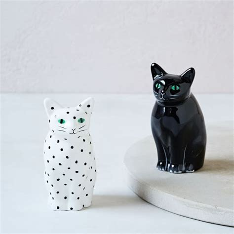salt ls and cats cat salt pepper shaker set west elm