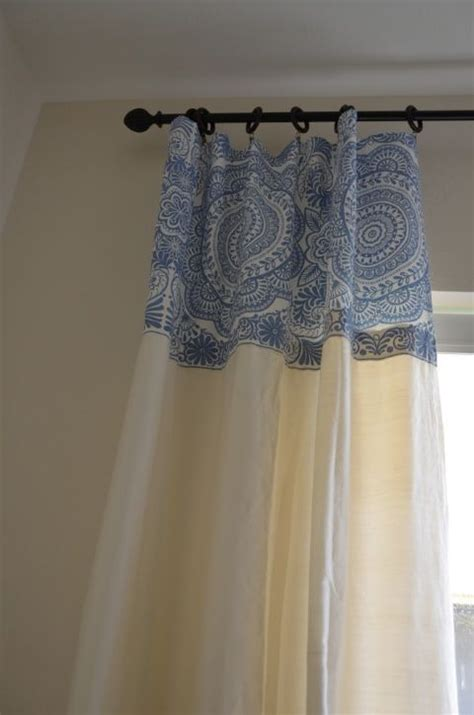 How To Make Drapery by Make Curtains Longer With Glue And A Fabric Shower Curtain
