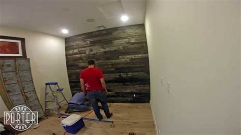 Speckled Black Wood Wall Covering Install   YouTube