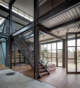 Contemporary Industrial House Features An Expressive Interior Of Raw Steel