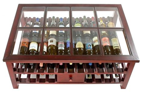 eclectic wine rack for contemporary house coffie table