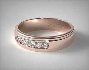 6mm channel set diamond wedding ring 14k rose gold With james allen mens wedding rings