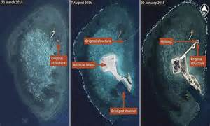 china builds fortress   sea satellite images show