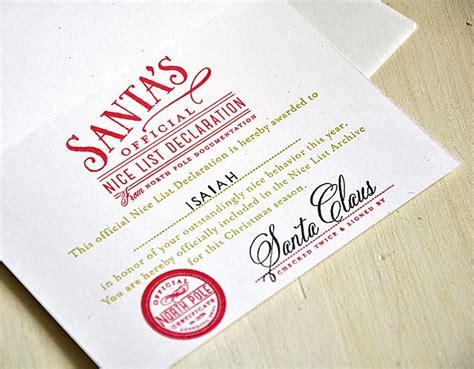 santas declaration card interior  maile belles
