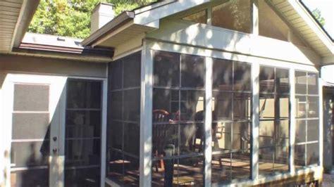 diy porch enclosure eze breeze kits  sunroom llc youtube