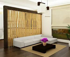 Separateur De Piece Design : bambou d co pour le salon quelques id es originales ~ Teatrodelosmanantiales.com Idées de Décoration