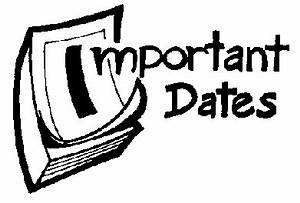 2011 Important Dates