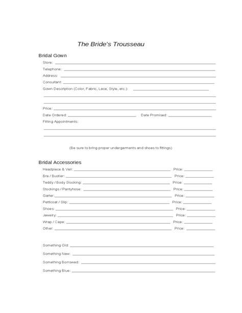 wedding planning worksheets free