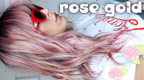 diy rose gold hair color  home tutorial youtube