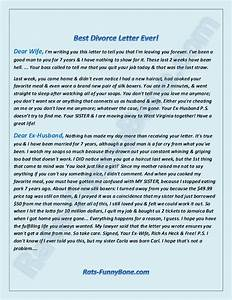 dear ex husband the best divorce letter ever rats With divorce letter to husband sample