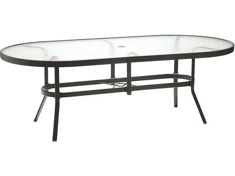 table with umbrella hole winston obscure glass aluminum 84 39 39 x 42 39 39 oval dining