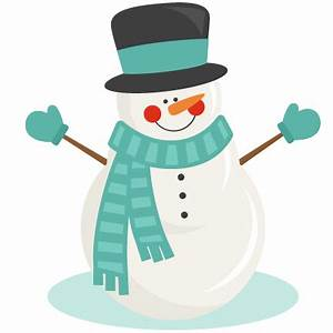 Snowman Winter SVG scrapbook cut file cute clipart files ...