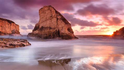 ocean rocks beach sea coast  hd nature  wallpapers