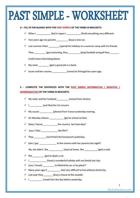 simple worksheet worksheet  esl printable