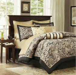 black gold 12 piece luxury paisley bedding bed comforter set queen king cal king ebay