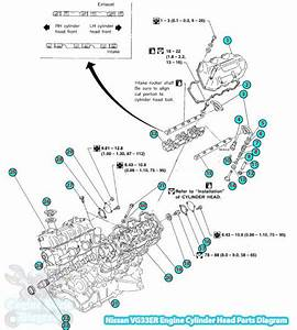 Nissan Frontier Cylinder Head Parts Diagram  Vg33er Engine