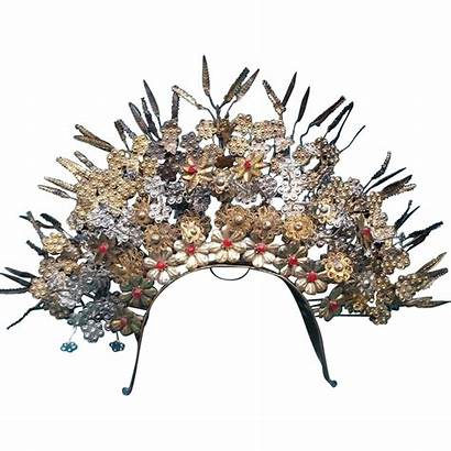 Headdress Head Tiara Indonesian Crown Piece Rubylane