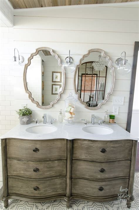 Master Bathroom Mirrors by Beautiful Farmhouse Master Bathroom Remodel