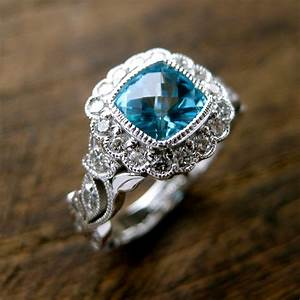 teal blue paraiba topaz engagement ring in 14k white gold with With teal wedding rings