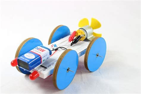 electric car with fan science project at home