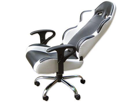 siege baquet fauteuil de bureau chaise de bureau baquet simili cuir noir blanc ebay