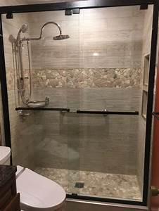 8 5 Bathroom Design Mixed Quartz Mosaic Tile Shower Remodel Amazing