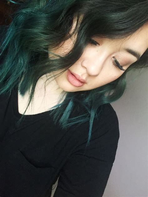 More discreet than tie and dye, less classic than sweeping, this new technique of hair. Ion Jade Semi Permanent Haircolor | Edgy hair, Pretty ...