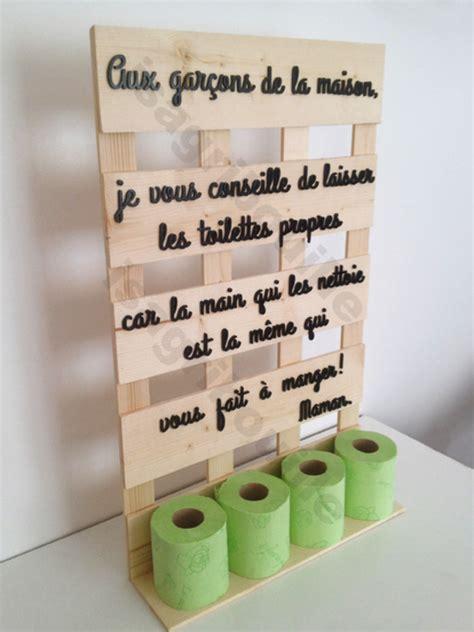 porte papier toilette en bois porte papier toilette sur planche de palette d 233 corations murales par isagribouille
