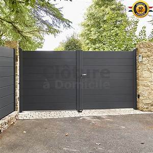 Portail Alu Battant 3m50 : portail battant aluminium m portail alu marron sobc85 ~ Dailycaller-alerts.com Idées de Décoration