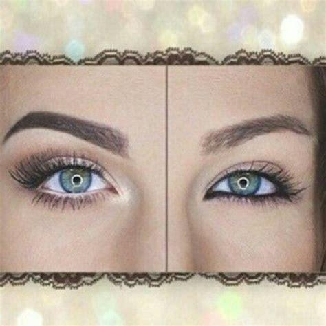 white eyeliner  tight    waterline   eye    eyes  larger