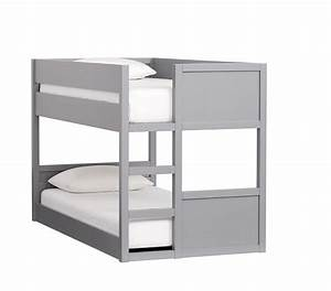 Camden twin over twin low bunk bed pottery barn kids for Camden bunk bed
