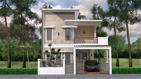 Home Design Plan 7x12m with 4 Bedrooms Plot 8x15 Home