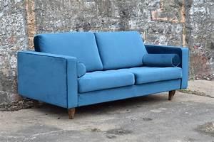 Sofa Samt Blau : sofa venice vintage samt blau 3 sitzer 230 m bel wohnen sessel sofas freudenhaus ~ Sanjose-hotels-ca.com Haus und Dekorationen