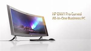 """HP ENVY 34"""" Curved All-in-One - Daily Smart Technology"""
