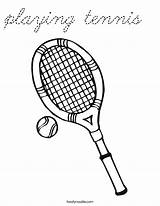 Coloring Tennis Playing Cursive Built California Usa sketch template