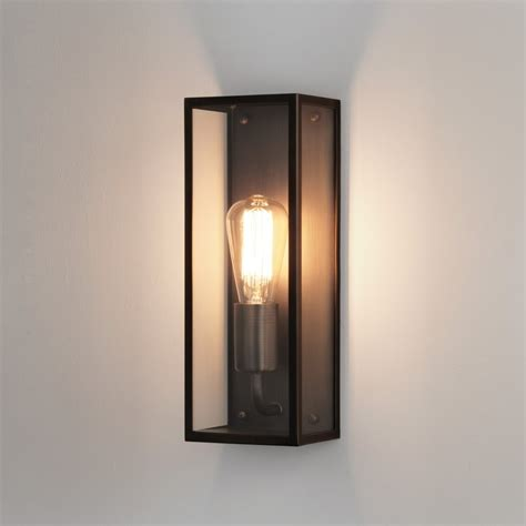 astro lighting 7861 messina 130 bronze exterior ip44 box wall light
