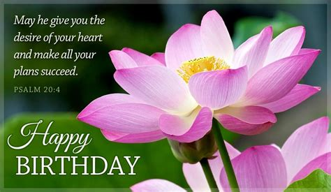 By reading these religious birthday wishes, we hope that you already know what to write on a religious birthday card and make great spiritual birthday messages to wish somebody who loves to be religious. Free Happy Birthday Psalm 20:4 eCard - eMail Free ...