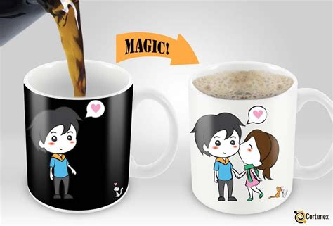 Design your everyday with magic coffee mugs you'll love to add to your morning routine or at work. Magic Coffee Mugs Heat Sensitive Color Changing Coffee Mug Good Gift Mug Lovely Cartoon Couples ...