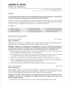 resume template editor managing editor free resume sles blue sky resumes