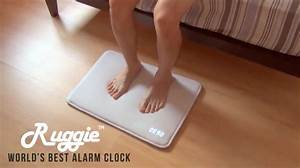 Ruggie an alarm clock floor mat that forces users to get for Alarm clock floor mat