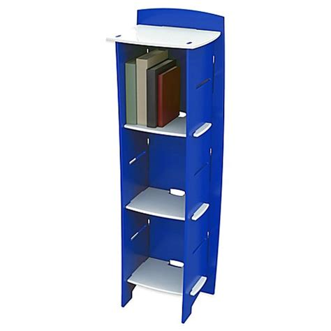 Blue Bookcase by Legare 174 Blue Racer 6 Shelf Tool Free Bookcase In Blue