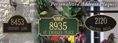 address plaques personalized address signs house