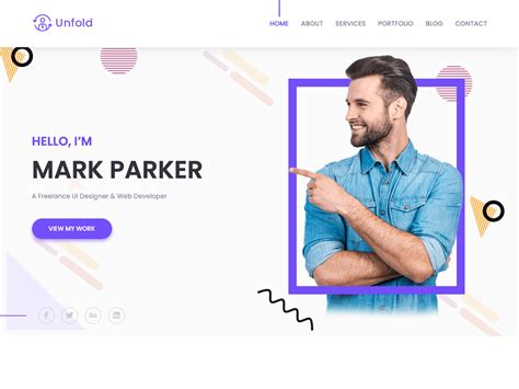 If you are looking to gain attention for your business or you are seeking to get an award of some kind, you need to have a way of sharing about your business. Free Personal Portfolio and Profile HTML Template by ...
