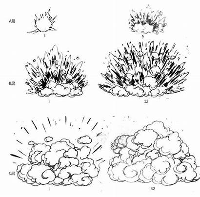 Drawing Manga Explosion Drawings Animation Sketches Effects