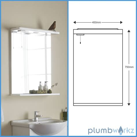 Bathroom Mirror Units by Vanity Unit Basin Mirror Lights Gloss White Modern
