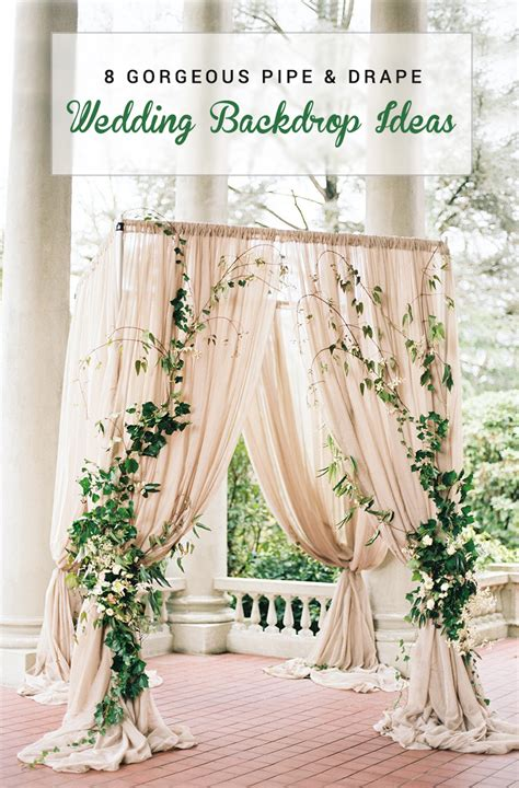 8 gorgeous pipe drape wedding backdrops bridalpulse