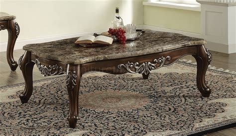 Set (coffee table and end table) $1,298.00 sale $949.00 12 month financing 12 month financing. Latisha Coffee Table 3Pc Set 82145 w/Marble Top in Antique Oak