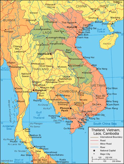 vietnam map  satellite image