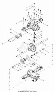 Mtd 13ad608g300  2003  Parts Diagram For Transmission